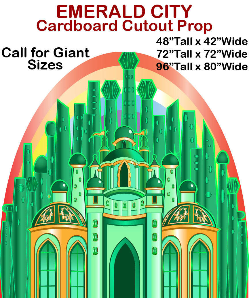 Emerald City Cardboard Cutout Standup Prop