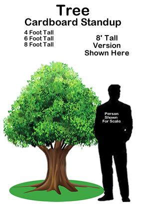 Tree Cardboard Cutout Standup Prop