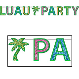 "Glittered Luau Party Streamer 8½"" x 8'"