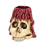 Skull & Candle Tea Light Holder 6 Ozs