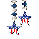 Patriotic Star Danglers 30""