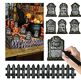 "Tabletop Graveyard 6"" & 24"" Cutout Decorations"