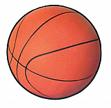 Basketball Cutout 13½""