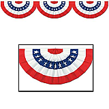 "Jointed Patriotic Bunting Cutout 12"" x 6'"