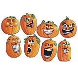 """Wacky Jack O' Lantern Cutouts 14"""""""