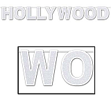 "Glittered Hollywood Streamer 8½"" x 8'"