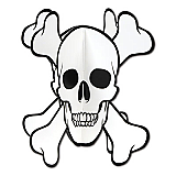 "3-D Skull & Crossbones Centerpiece 10"""