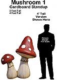 Mushroom 1 Cardboard Cutout Standup Prop