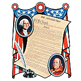 "Constitution Cutout 18"" x 23"""