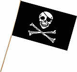 "Pirate Flag - Plastic 11"" x 17"""