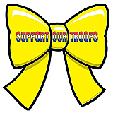 """Support Our Troops Ribbon Cutout 10"""""""