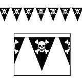 "Jolly Roger Pennant Banner 10"" x 12'"