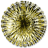 "Deluxe Star Fan 24"" Gold"