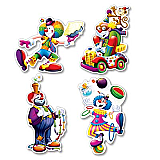 Clown Cutouts 14""
