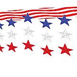 "Stars & Stripes Ceiling Décor 12"" x 12'"