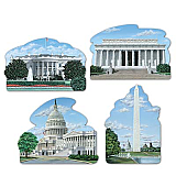 Washington DC Cutouts 16""