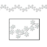 Winter Snowflake Garlands 6'