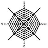Giant Shimmering Spider Web 6'