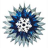 "Snowflake Fan-Burst 15"""
