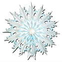 Dip-Dyed Snowflakes Cutouts 17""