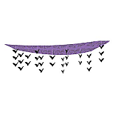 "Flock Of Bats Ceiling Décor 12"" x 12'"