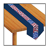 "Stars & Stripes Fabric Table Runner 12"" x 6'"