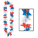 Patriotic Star Party Lei 36""