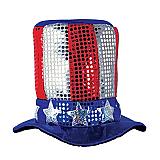 Glitz 'N Gleam Uncle Sam Top Hat