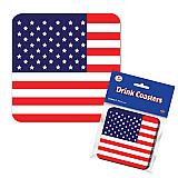 "American Flag Coasters 3½"""