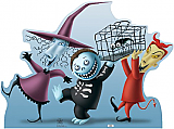 Lock, Shock, and Barrel - The Nightmare Before Christmas Cardboard Cutout Standup Prop
