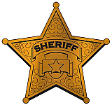 Foil Sheriff Badge Silhouette 12""