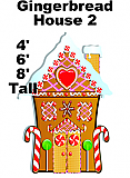 Gingerbread House 2 Cardboard Cutout Standup Prop