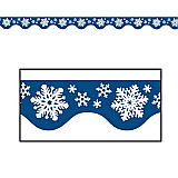 Gleam 'N Flex Snowflake Garland 25'