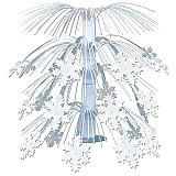 """Snowflake Cascade Centerpiece 18"""""""