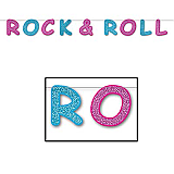 "Glittered Rock & Roll Streamer 8½"" x 8'"