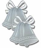 "Silver Foil Bell Silhouette 16½"""