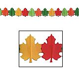 """Fall Leaf Garland 9"""" x 12'"""