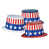 Plastic Toppers With Patriotic Band