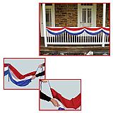 """Patriotic Fabric Bunting 5' 10"""""""