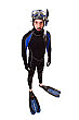 Diver Cardboard Cutout Standup Prop