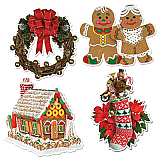 Home For Christmas Cutouts 16""