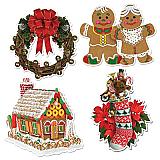 "Home For Christmas Cutouts 16"""