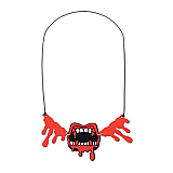 Bloody Fangs Necklace 16""