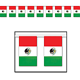 "Outdoor Mexican Flag Banner 18"" x 60'"