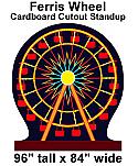 Carnival Ferris Wheel Cardboard Cutout Standup Prop