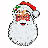 Display Santa Face Cutout 26""