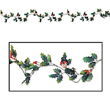 Holly & Berry Garland 6'