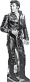 Elvis Black Leather - Elvis Cardboard Cutout Standup Prop