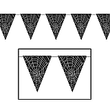 "Spider Web Pennant Banner 10"" x 12'"