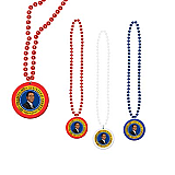 Beads With Obama Medallion 33""